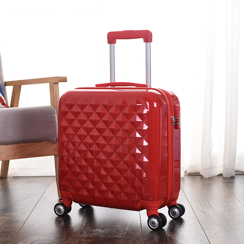 Pc fashion lightweight drag boxes luggage travel bag code case 18 inch ABS+PC trolley luggage on universal wheels