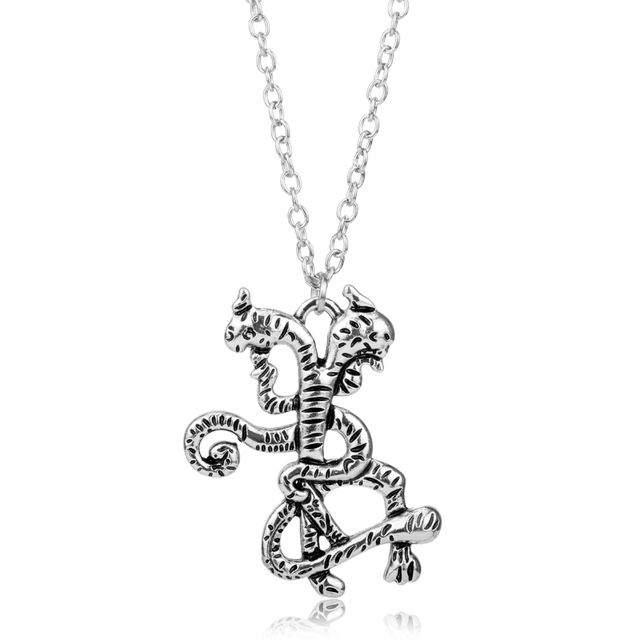 Beauty and the beast two headed snake pendants necklace movie beauty and the beast two headed snake pendants necklace movie jewelry vintage accessories necklace collier aloadofball Choice Image