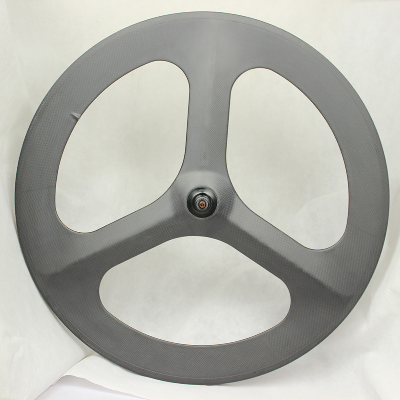 CARBON Tri Spoke REAR Clincher Tubular Wheel For Road Or Track Triathlon Time Trial Bike Wheel Three spokes carbon wheel China стоимость