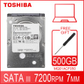 TOSHIBA внутренний жесткий диск для ноутбука, 500 Гб, 500 Гб, 2,5 дюйма, 7200 об./мин.