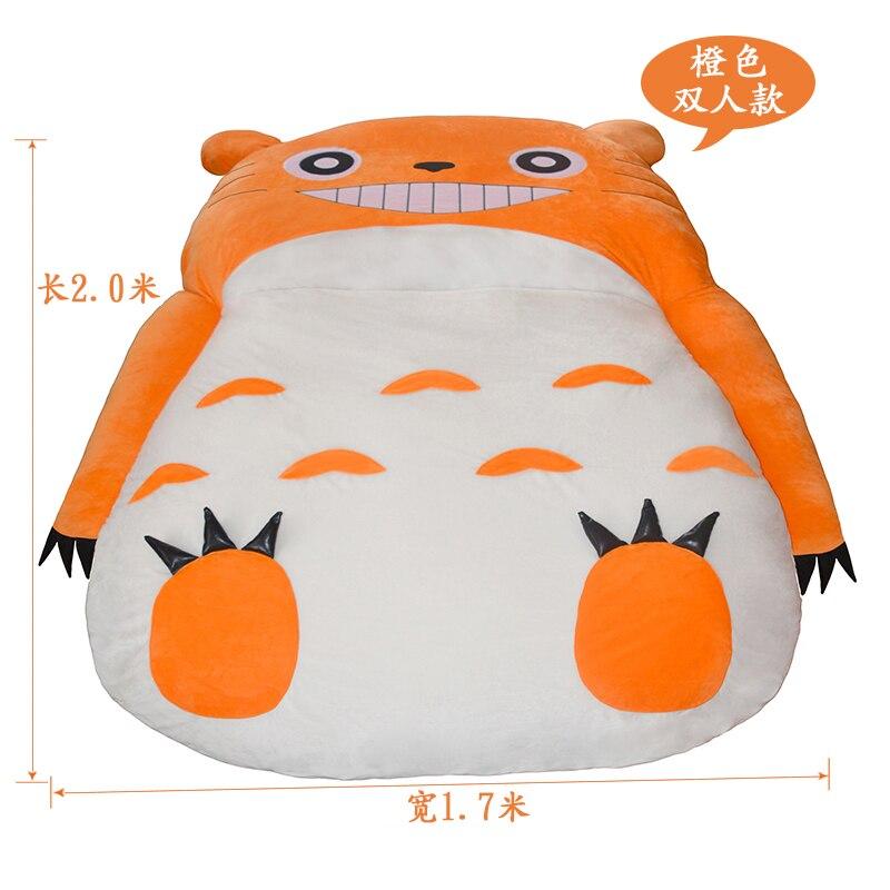 EEN 17% Creatieve lui slaapbank Totoro enkele stoel dubbele leuke cartoon sofa matras slaapkamer bed afneembaar en wasbaar