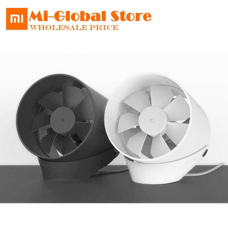 D'origine XiaoMi VH Double feuille ventilateur silencieux à faible bruit Tactile Interrupteur et Deuxième Vitesse Réglable Potable Voyager bureau Ventilateur