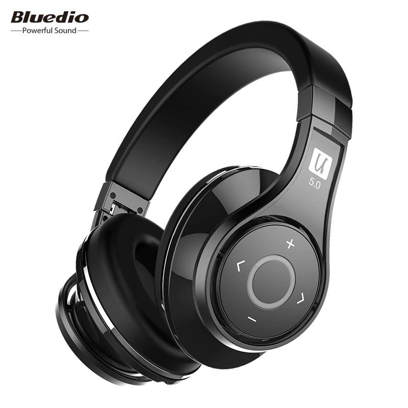 Bluedio U(UFO)2 High-End Bluetooth Headphones Patented 8 Drivers HiFi Wireless Headset Support APTX & Voice Control Earphone bluedio u red