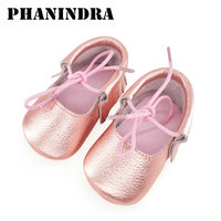 2017 New Born Girl Shoes Soft Bottom Fashion Tassels Baby Girl Shoes Moccasin Newborn Leather Sandal