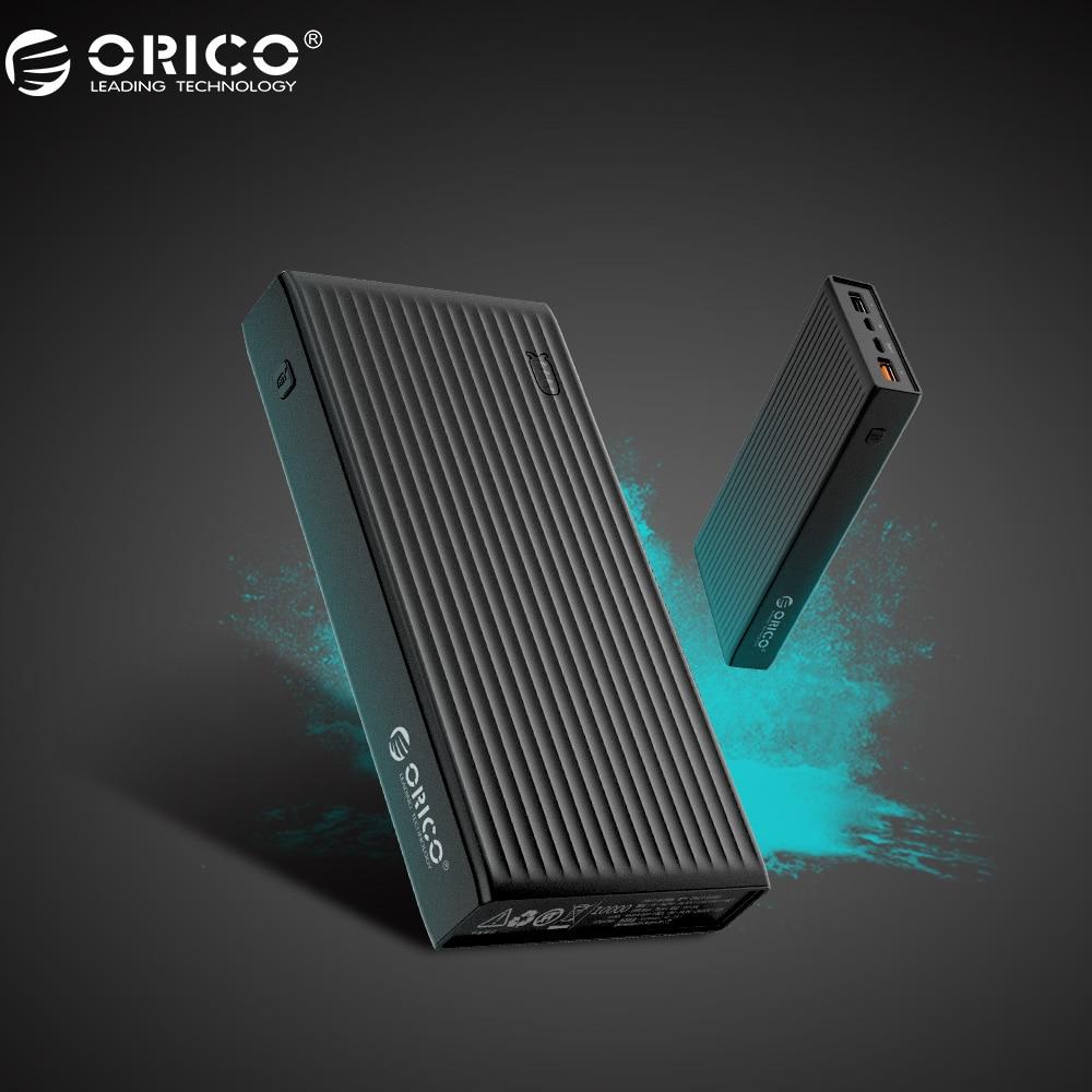 ORICO QC3.0 Puissance Banque 20000 mah BC1.2 Type-C Deux-façon Charge Rapide 18 W Max Sortie Pour Moblie Téléphone