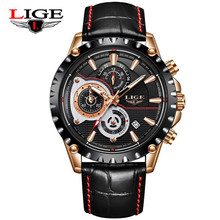 LIGE Fashion Chrongraph Sport Mens Watches Top Brand Luxury Quartz Watch Reloj Hombre 2018 Male Hour Clock Relogio Masculino womage top brand men watches fashion men sport watches military watch hour quartz clock relogio masculino reloj para hombre 2018