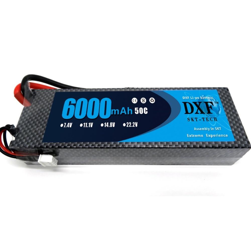 DXF 7.4V 6000mAh 50C 2S Grade A Li-Poly Lipo Baterie Greu caz pentru - Jucării cu telecomandă