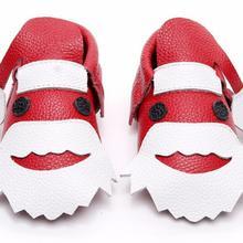 b8d51699 2019 Santa Claus navidad regalo de bebé de cuero genuino mocasín Zapatos  bebé Zapatos recién nacido