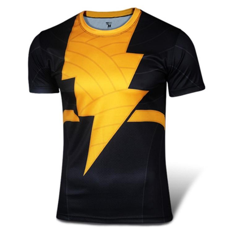 High quality new 2015 Men superhero Batman Jersey shirt quick dry fitness compression drying T shirt