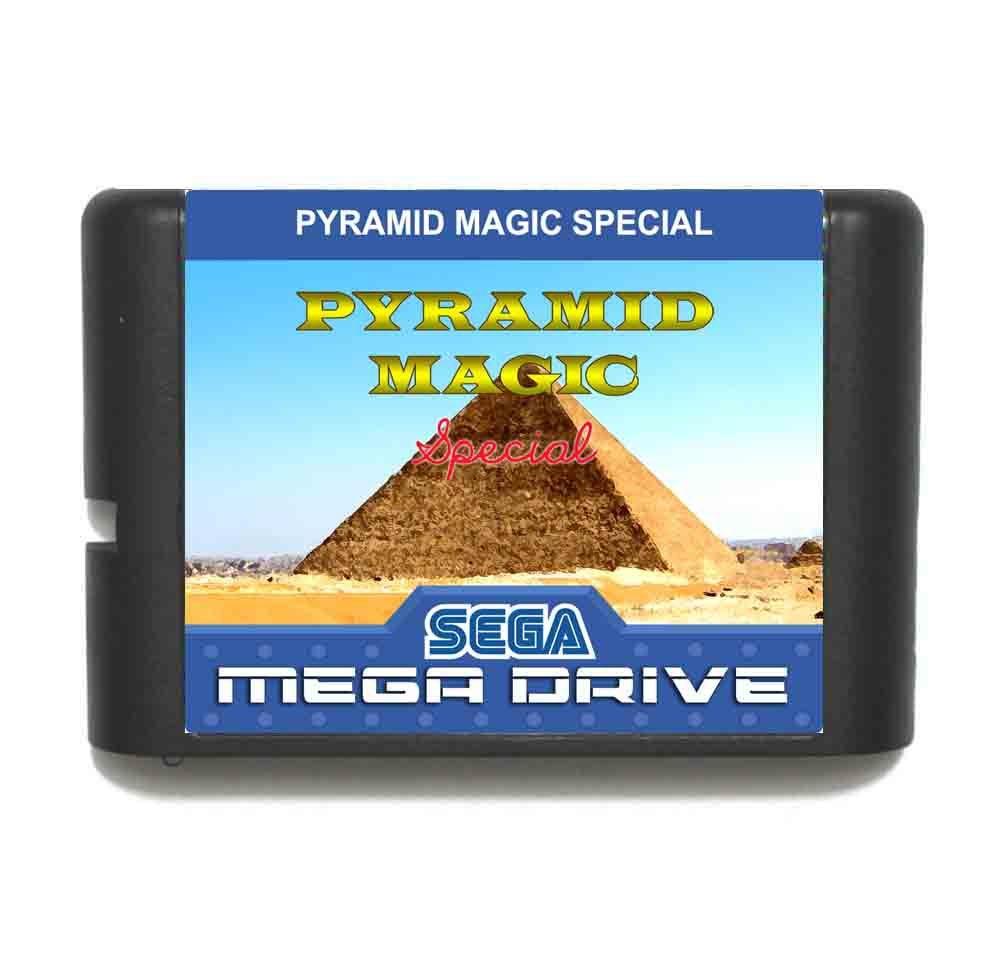 Pyramid Magic Special MD 16 bit Game Card For Sega Mega Drive For Genesis