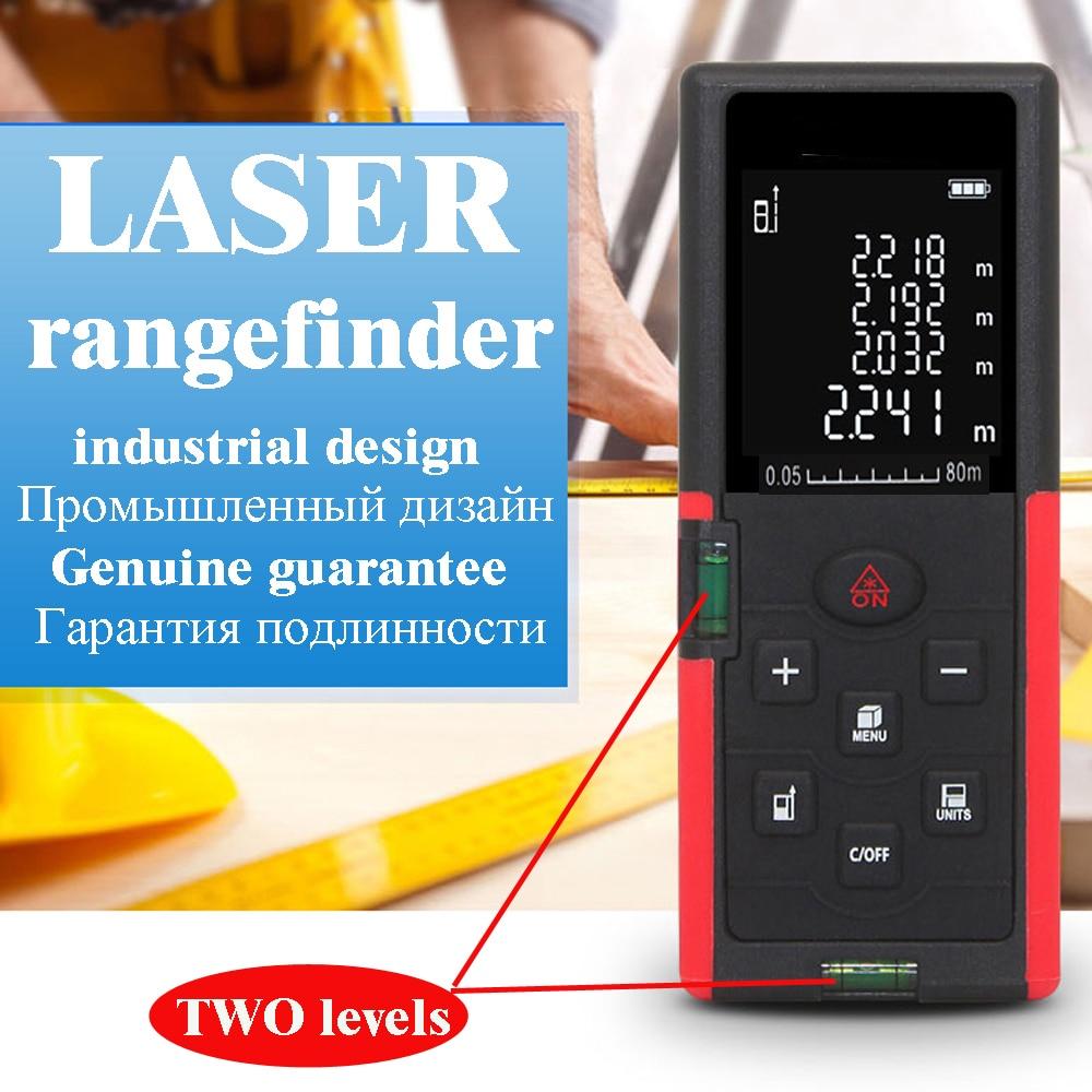 Image 3 - laser distance meter 40M 60M 80M 100M laser range finder Laser rangefinder Tape Measure ruler Roulette Electronic Tape-in Laser Rangefinders from Tools