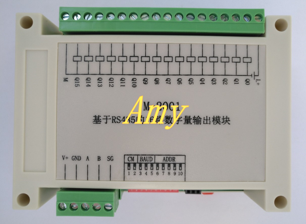 16 way digital output DO module RS485 Modbus data acquisition communication board PLC extension IO