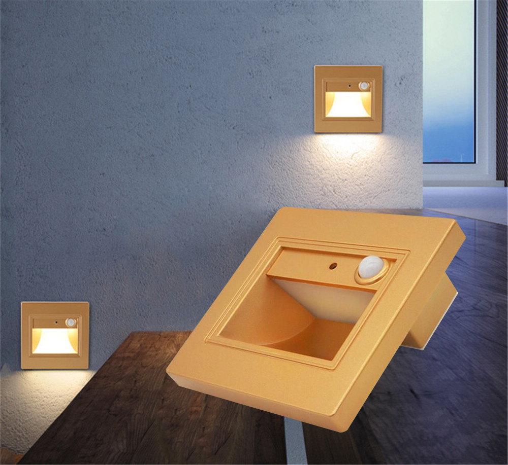 Lighting Basement Washroom Stairs: PIR Motion Detector Sensor Led Stair Light Infrared Human