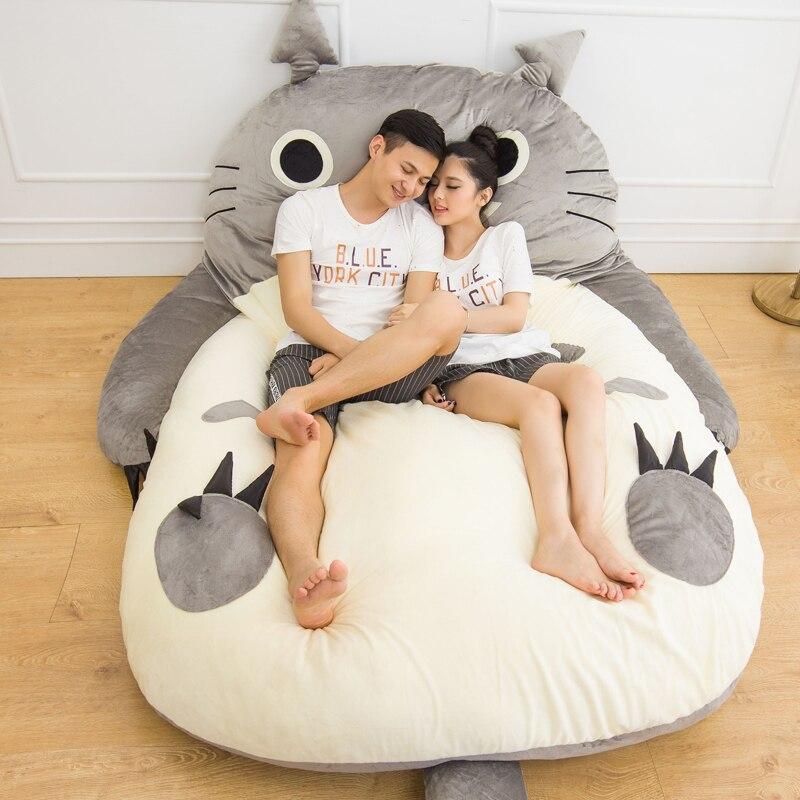 200x170 Cm Grote Matelas Totoro Tweepersoonsbed Giant Totoro Matras Kussen Pluche Japanse Matras Tatami Kussen Zitzak Fijne Kwaliteit