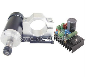 400W CNC Spindle Motor Kits PWM Speed Controller Mount Bracket - lishui city hengli Automation Technology co., ltd. store