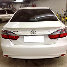 new camry 2012 to 2017 Reduce resistance spoiler High hardness and quality ABS rear trunk wing spoiler by primer paint or DIY new design for toyota camry 2018 high quality and hardness abs material spoiler by primer or diy color paint camry spoilers