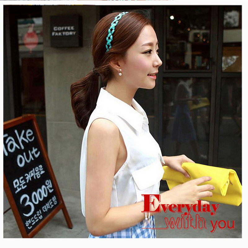 9f5674678bd49 Braid Cloth Flower Headbands Simple Elegant Hairbands Women Girl Hair  Accessories-in Women's Hair Accessories from Apparel Accessories on  Aliexpress.com ...