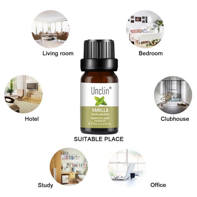 10ml/Pc Vanilla Essential Oil Diffuser Humidifier Pure natural Organic Fragrance Aromatherapy Essential Oil Skin Care 8