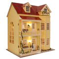 Fairy Homeland Large scale DIY Doll house 3D Miniature Lights+Wood Handmade kits Building model Play house toy Home Decoration