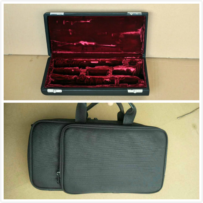 New clarinet case real wood material leather box and clarinet portable package