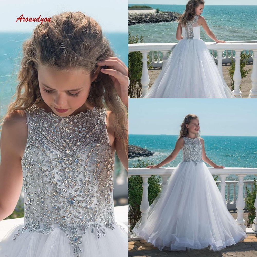 Luxury   Flower     Girl     Dress   for Party and Weddings Crystals Pageant First Holy Communion   Girls     Dress   for   Girls   Gown 2019