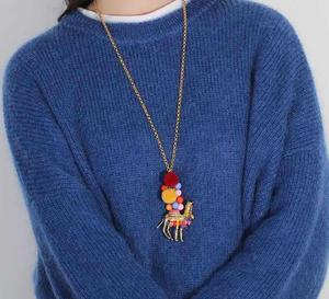 Image 5 - CSxjd מכירה לוהטת צבע שיער כדור מדבר גמלים אופנה גבירותיי סוודר שרשרת שרשרת סיטונאי