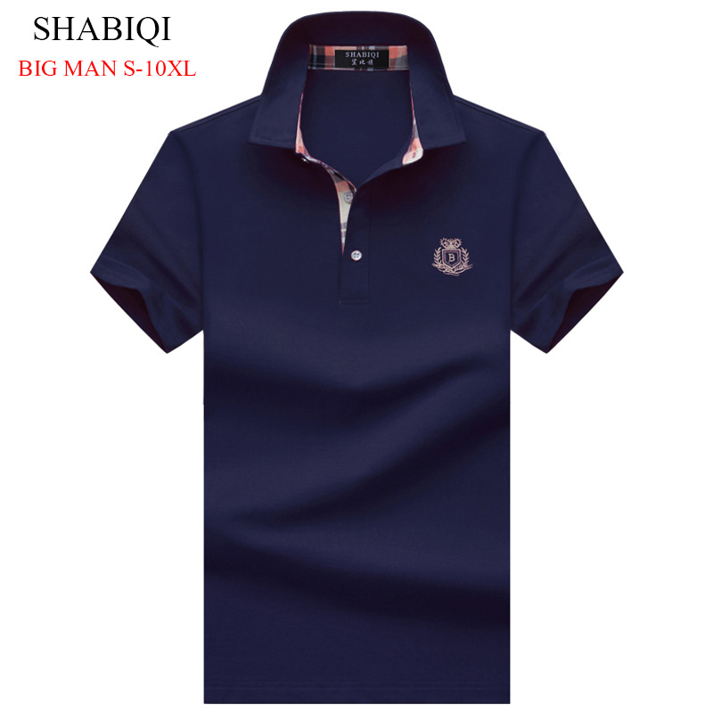 SHABIQI Solid Men's   Polo   Shirt Men Cotton Short Sleeve Camisas   Polo   Stand Collar   Polo   Shirt Men Casual   Polos   2019 New