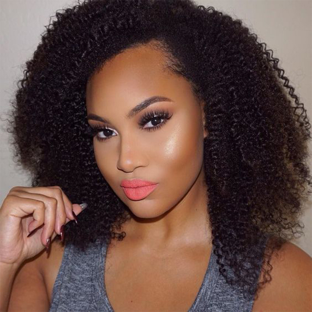 Cheap afro kinky lace front wigs   short full lace human hair wigs for  black women 6-14inch 130% density aliexpress uk beb0b31cf3