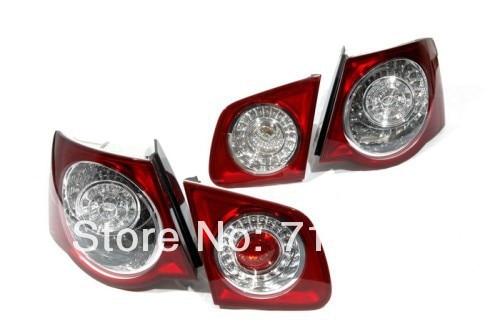 Стиль р36 Вишнево-Красный светодиодный задний свет Комплект для VW Джетта МК5