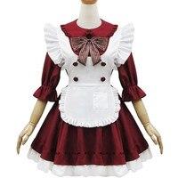 Disfraces de Halloween Para Las Mujeres caliente Japonés Maid Lolita Vestido Femenino Ropa de Anime Cosplay Ropa Rendimiento Cafe XH031