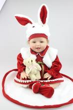 55cm Silicone Vinyl Baby Reborn Dolls adora chucky Handmade Kids Princess Toys Children bebe bjd doll reborn bonecas Christmas