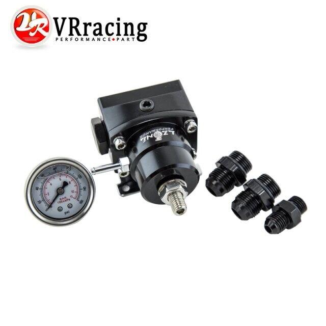 Prix pour VR RACING-AN8 haute pression de carburant régulateur w/boost-8AN 8/8/6 de Pression de Carburant régulateur avec manomètre VR7855
