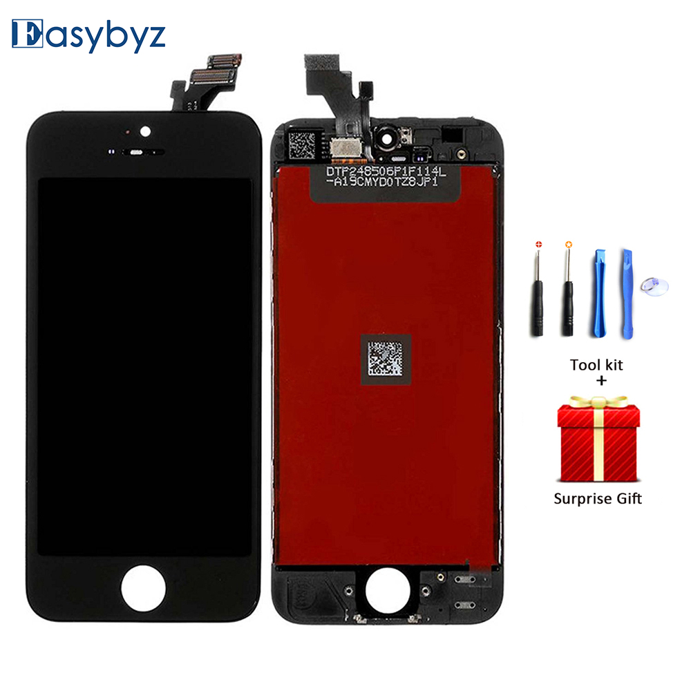 AAA LCD Screen For iPhone 5 Lcd Display For iPhone5 with Touch Digitizer Assembly + Tool kit buyton 100%brand new aaa lcd for iphone 6p 5 5 inch display touch screen digitizer assembly with touch screen gift