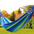 Portable Hammock Striped Rainbow Forest Park Garden Travelling Rest Hang Bed Camping Swing Canvas Outdoor High Quality