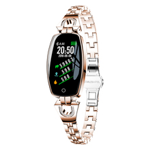 H8 Women Lady Smart Wristband Heart Rate Blood Pressure Fitness Tracker waterproof IP68 for gift