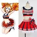 Amor En Vivo! honoka kousaka animadora mujeres niñas summer uniform dress pary club de trajes de baño de encargo de halloween cosplay