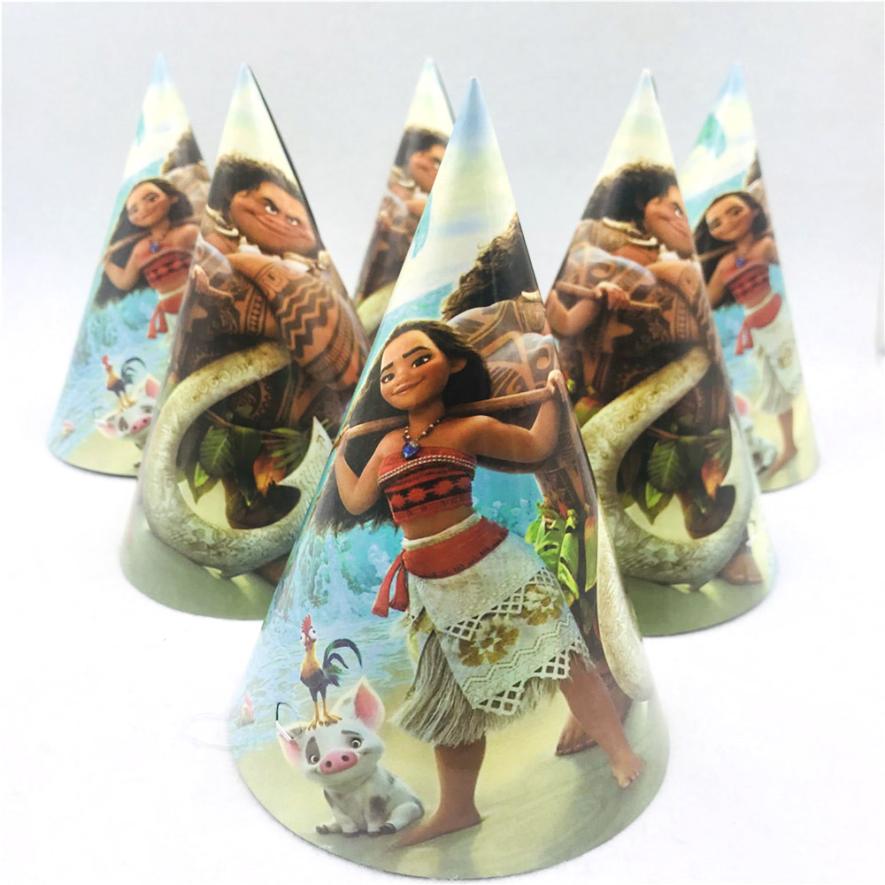 Moana birthday party supplies Decorations Kids Disaposable tableware Plates Cups Cap Banner Event Party Favors Girl baby shower in Disposable Party Tableware from Home Garden