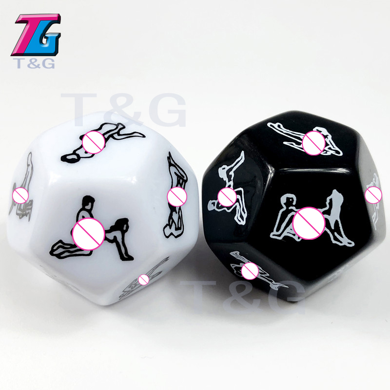 New Arrival! T&G Dice High Quality 1pc Black or White Color Sex Dice for Board Game,Sexy Love Game Dice for Couple Game image