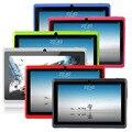 "Libre de ee.uu. yuntab 7 ""A33 Quad Core 1.5 GHz cuatro Colores Q88 7 pulgadas Tablet PC 1024x600 de Doble Cámara de 2800 mAh 8 GB"