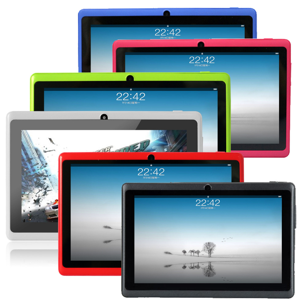 Shipping from USA Yuntab 7inch Q88 A33 Quad Core 512MB 8GB 1 5GHz five colors Tablet