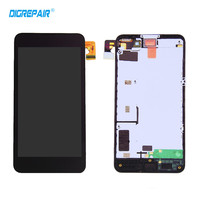 100 Tested Black For Nokia Lumia 630 635 LCD Display Touch Screen Digitizer Assembly Bezel Frame