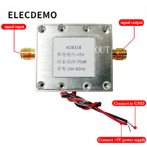 Image 2 - 1 8000MHz AD8318With cavity  RF Logarithmic Detector 70dB RSSI Measurement Power Meter Board Module Standard SMA Female