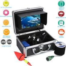 20/30M 7″ Underwater Video Camera 1000TVL Fish Finder Sun Visor Shelf Infrared IR LED CMOS Sensor Professional Fishing Monitor