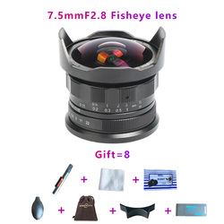 brightin star 7.5mm F2.8 Super Wide Angle Fisheye Lens for Canon Fuji APS-C mirrorless camera