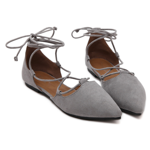 932546f0aab4 Women Flats Shoes Ankle Strap Women Ballerina Flats Shoes Pointed Toe Sexy Ladies  Sandals Boat Shoes dropshipping