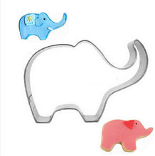 1PC/Lot Stainless Steel Animal Elephant Cookie Cutter Dough Pastry Fruit Chocolate Decorating Mold DIY Kitchen Baking Moulds(China)
