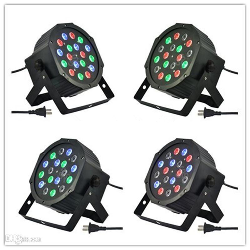 free DHL New Led Stage Light High Power RGB Par Light With DMX512 Master Slave Led Flat DJ Equipments Controller brand new s262dc b32 6pcs set with free dhl ems