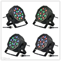 free DHL New Led Stage Light High Power RGB Par Light With DMX512 Master Slave Led Flat DJ Equipments Controller