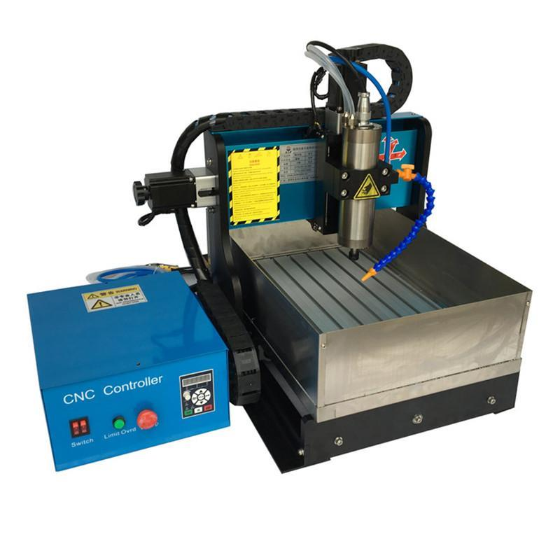 JFT Mini CNC Router 600W CNC Router with Water Tank High Precision Wood Engraving Machine 4 Axis with USB 2.0 Port 3040  high precision table moving 4 axis cnc mini router 3 axis mini cnc router metal engraving machine 3030 4040 6060