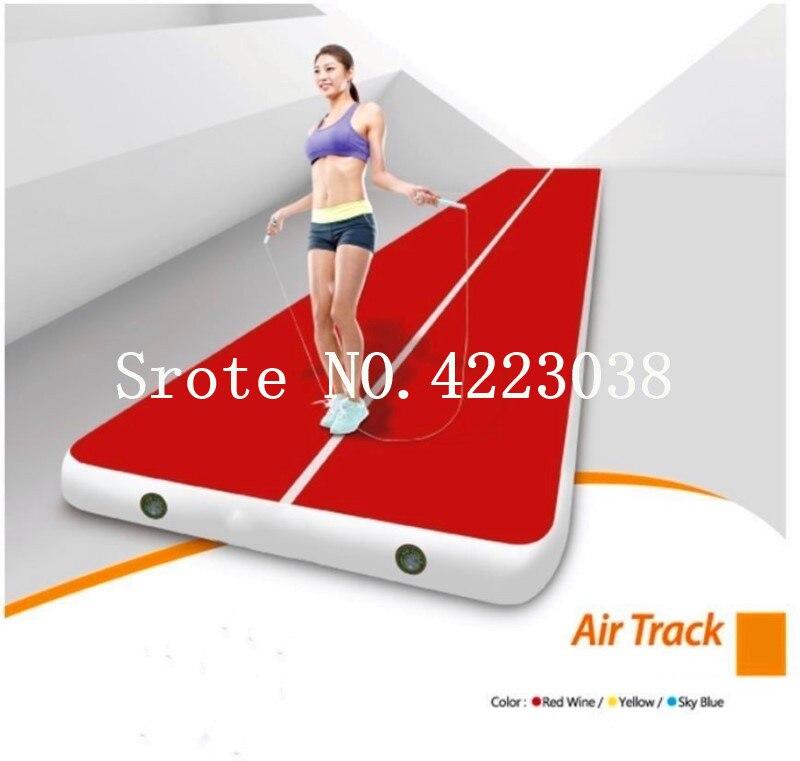 Envío Gratis rectángulo 6 M * 2 M inflable barato gimnasia colchón gimnasio secadora Airtrack piso cayendo de aire para la venta